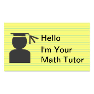 Simple Tutoring Business Cards