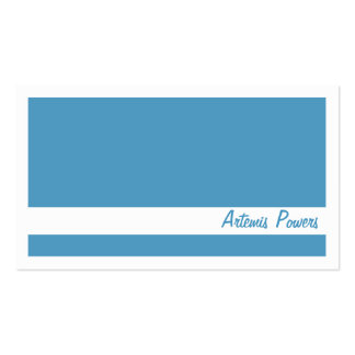 Simple Two color business card, blue and white Business Card
