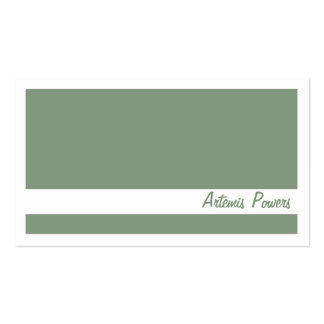 Simple Two color business card, green and white Business Card