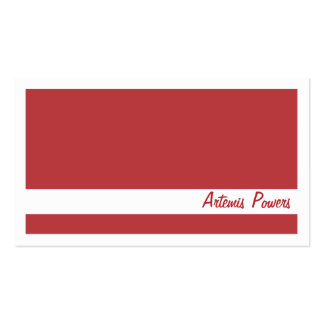 Simple Two color business card, red and white Business Card