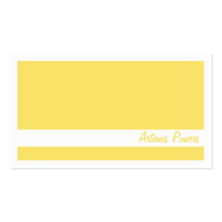 Simple Two color business card, yellow and white Business Card