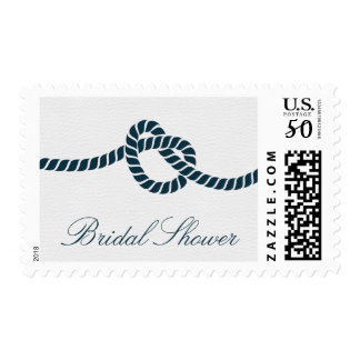 Simple Tying the Knot Bridal Shower Postage