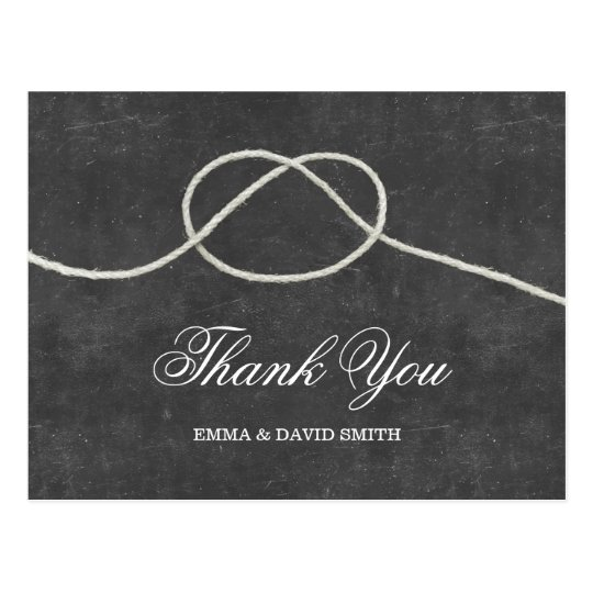 simple tying the knot chalkboard thank you cards zazzle com