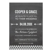 SIMPLE TYPE WEDDING geometric pattern arrow gray Card