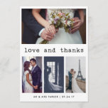 """Simple Typewriter Text Wedding Thank You 