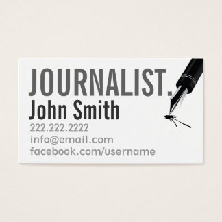 Newspaper Journalist Business Cards & Templates | Zazzle