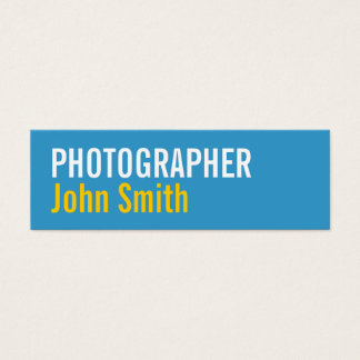 Simple Typography Photographer Business Card