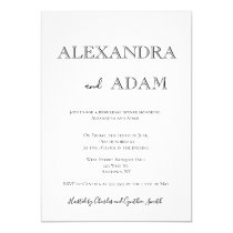 Simple typography rehearsal dinner invitations