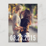 """SIMPLE TYPOGRAPHY VERTICAL SAVE THE DATE POSTCARD<br><div class=""""desc"""">SIMPLE TYPOGRAPHY 
