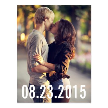 misstallulah SIMPLE TYPOGRAPHY VERTICAL SAVE THE DATE POSTCARD