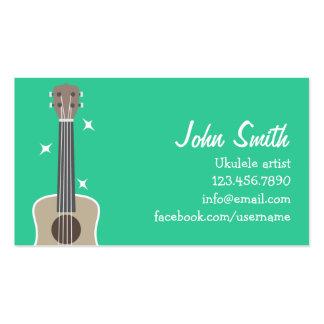 Simple Ukulele Artist Music Profile Card Business Cards