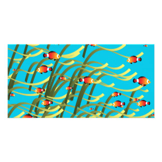 Simple underwater scene card