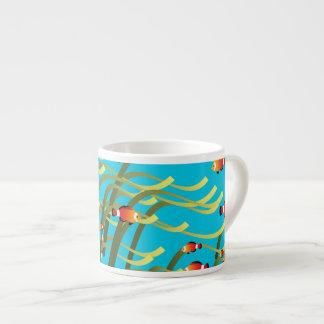 Simple underwater scene espresso cup