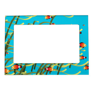 Simple underwater scene magnetic picture frame