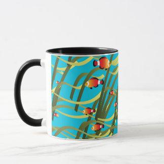 Simple underwater scene mug