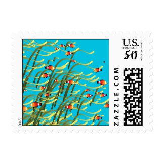 Simple underwater scene postage