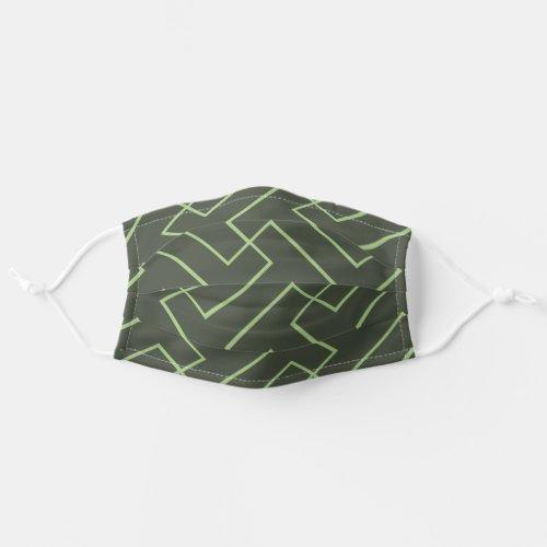 Simple Unisex Green Pattern Minimal Modern Cloth Face Mask