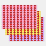 [ Thumbnail: Simple Valentine's Day Heart Shapes Wrapping Paper ]