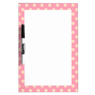 Simple Vector Daisy Flowers in Yellow on Pink Dry-Erase Board