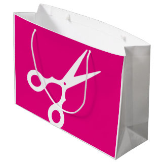 Simple Vector Scissors (Pick Your Own Color) Large Gift Bag