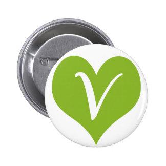Simple Vegan Graphic Pins