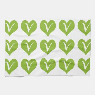 Simple Vegan Graphic Towels