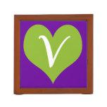 Simple Vegan Icon Desk Organizer