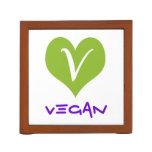 Simple Vegan Icon Pencil/Pen Holder