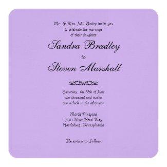 Simple Very Soft Violet Wedding Invitations