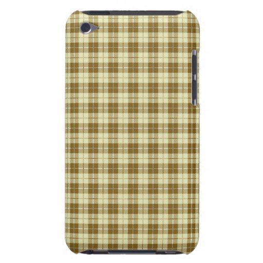 Simple Vintage Blue and Brown Plaid Cases Barely There iPod Covers