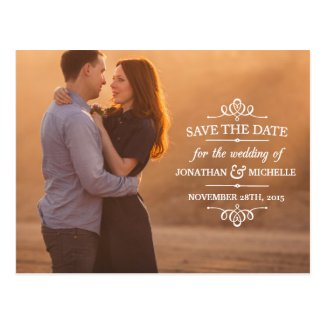 Simple Vintage | Photo Save the Date Postcard