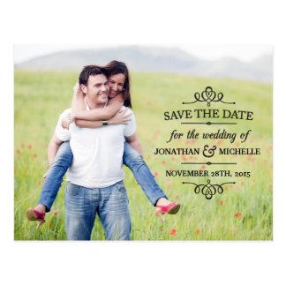 Simple Vintage | Photo Save the Date Postcard