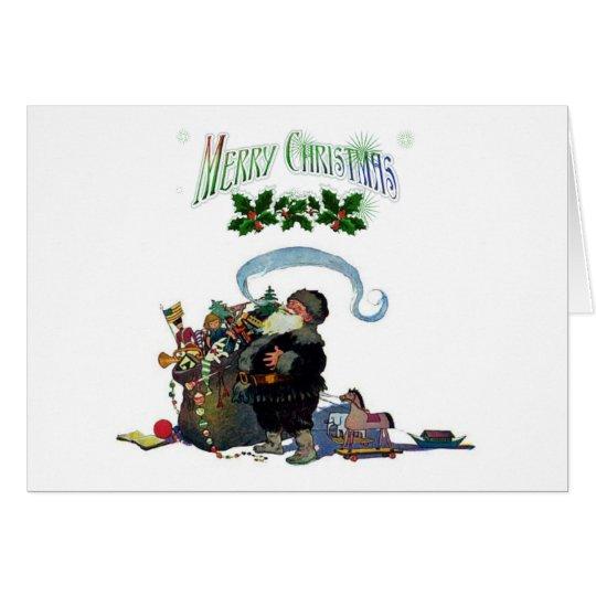 Simple Vintage Santa Christmas Card