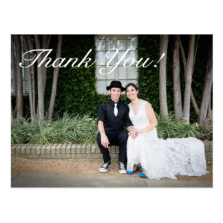 Simple Vintage Wedding Thank You Post Card