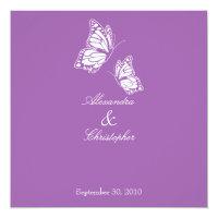 Simple Violet Butterflies Wedding Announcement (<em>$2.26</em>)