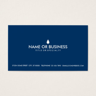 simple water drop business card