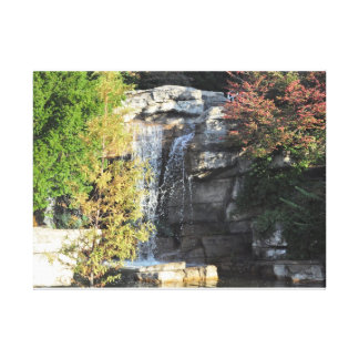 simple water fall stretched canvas prints