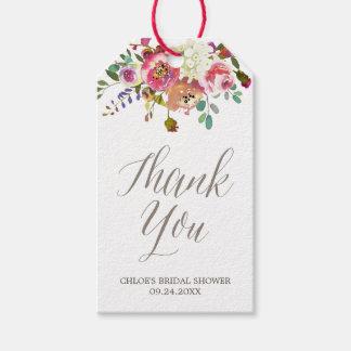 Purple Bridal Shower Gift Tags | Zazzle
