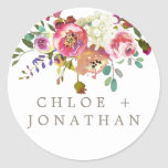 Simple Watercolor Bouquet Wedding Envelope Seals