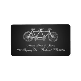 Simple Wedding Address Tandem Bike Black Label