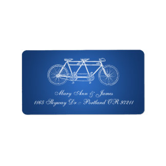 Simple Wedding Address Tandem Bike Blue Label