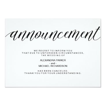 Customize_My_Wedding Simple Wedding Cancellation Announcement