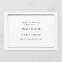 Simple Wedding Cancellation Announcement Card