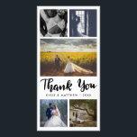 "Simple Wedding Five Photos Thank You Card<br><div class=""desc"">Modern Wedding Five Photos Thank You</div>"