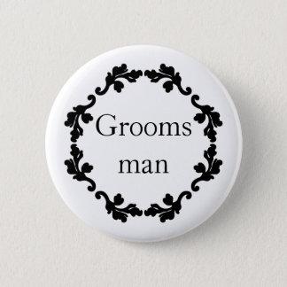 Simple wedding Groomsman Button