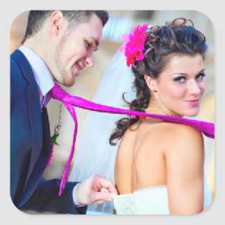 Simple Wedding Photo Sticker