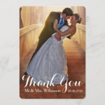 Simple Wedding Photo Thank You