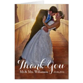 Simple Wedding Photo Thank You Card