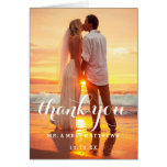 Simple Wedding Photo Thank You Card at Zazzle