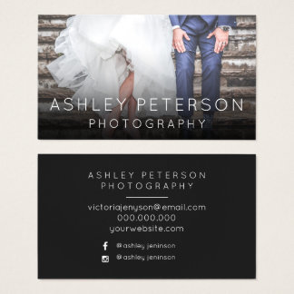 Simple wedding photography minimal typography business card